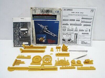 RARE AIRES 3009 GERMAN 10.5CM LIGHT FIELD HOWITZER KIT METAL RESIN MIB BS2843