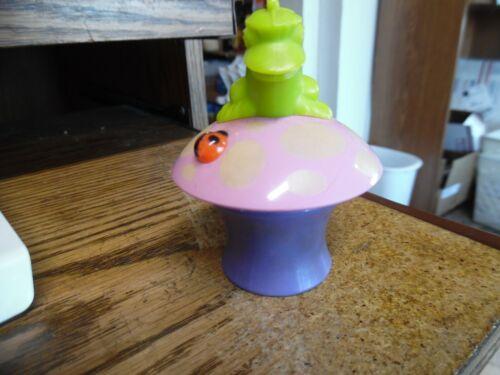Avon Her prettiness cream sachet frog on mushroom with ladybug purple bottle