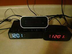 Clock Radio digital lot alarm phone charging dock Timex Copello 3 of them