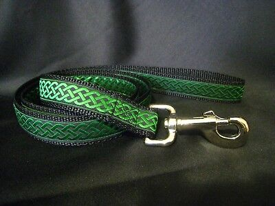 6 Colors! Celtic Knot Double Sided Leash - Lead Made to Match Martingale Collar