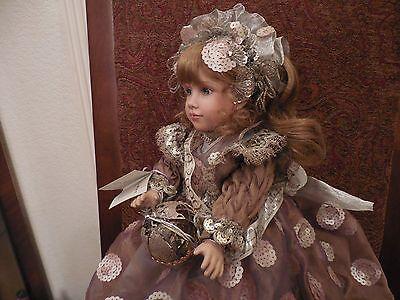 Vintage Porcelain Artist Doll Beautiful Dress Marcell Millennium 2000