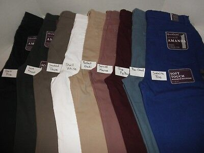 NWT Ladies Gloria Vanderbilt Amanda STRETCH pants Colored 5 pocket Jeans  ()
