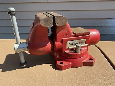 Large Wiltonsnap-on Tools Model 1760 Bench Vise 6 Jaws With Swivel Base