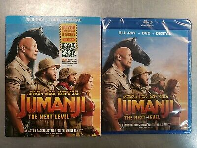 Jumanji The Next Level (Blu-Ray + DVD + Digital Copy) w/Slipcover