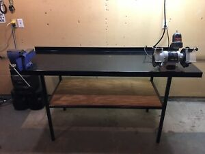 Custom made metal workbench