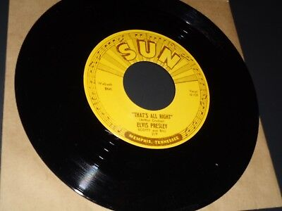 Elvis Presley 45 rpm Sun Label, One-Sided Promo. That's All Right. Mint
