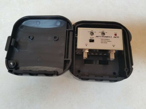 30+DB Outdoor Ultra Low Noise Digital HDTV Pre-Amplifier Booster SuperLong Range