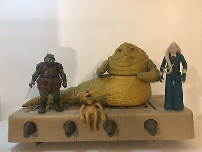 Vintage Star Wars Jabba The Hutt with base + Action Figures