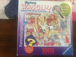 WASGIJ Mystery #2 jigsaw puzzle STOP THE CLOCK 1000 pc Ravensburger Missing 1 Pc