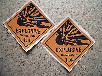 army military landrover wolf wmik nato ammo explosive stickers, X2, satin finish
