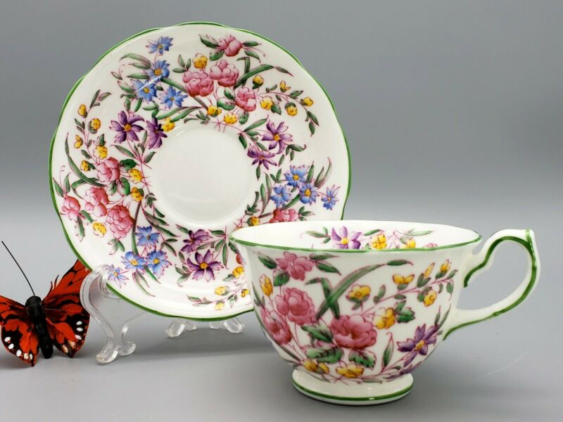 Hammersley Teacup & Saucer Rose Bone China Personal Footed English Collection