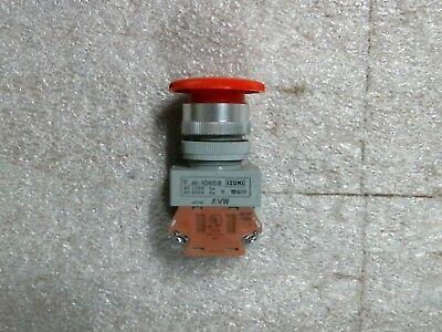 Used IDEC AVW311-R Red Emergency Stop Pushbutton 1 N.O 1 N.C - 60 day warranty