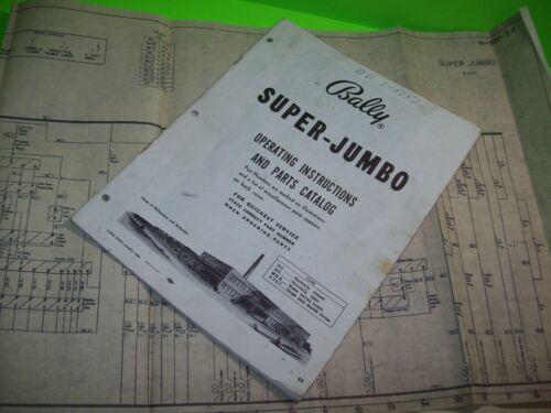 Bally SUPER JUMBO 1962 Original upright Slot Machine Service Manual + Schematic