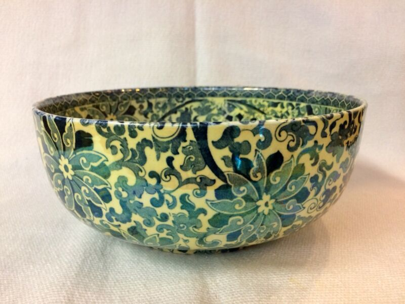 BURLSEY WARE CHUNG PATTERN ENGLAND ~ BOWL LUSTER OVER TRANSFER STUNNING & RARE!