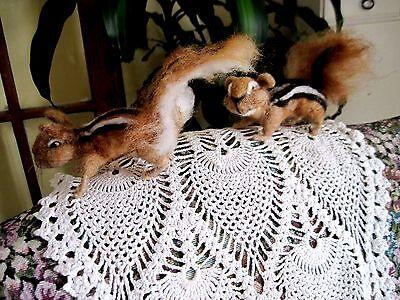 "Artist Handmade Needle Felted CHIPMUNK  Sculpture 4"" REALISTIC ART ANIMAL"