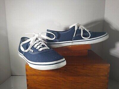 VANS Authentic Lo Pro Navy Blue Canvas Lace Up Athletic Sneakers Women Men Shoes