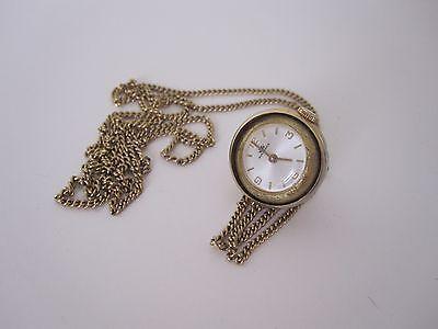 Vintage Bucherer Ball Necklace Pendant Windup Ladies Watch Swiss