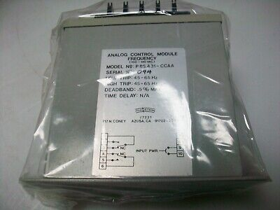 Phaostron Analog Frequency Control Module 45-65 Hz.