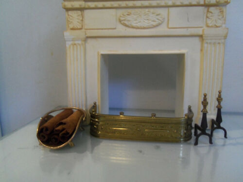 Dollhouse Miniature vintage  Victorian  fireplace /accessories 1:12 Scale