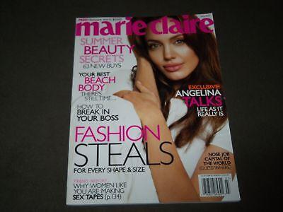 2007 JULY MARIE CLAIRE MAGAZINE - ANGELINA JOLIE COVER - FASHION - O 9290