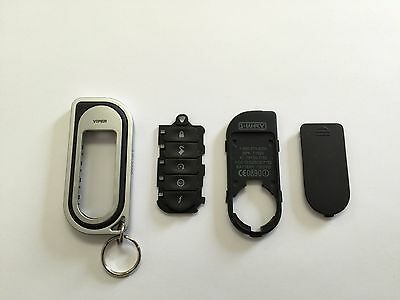 OEM NEW silver/black Viper Replacement 1-Way Remote Fob Shell Case 7152v 7252V