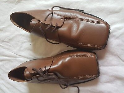 MENS RED HERRING BROWN LACE UP SHOES SIZE 8