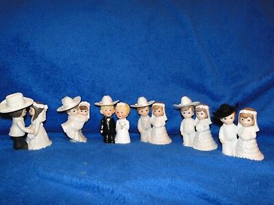 NEW  BRIDE AND GROOM WITH COWBOY HAT WESTERN WEDDING CAKE COUPLES, YOU PICK