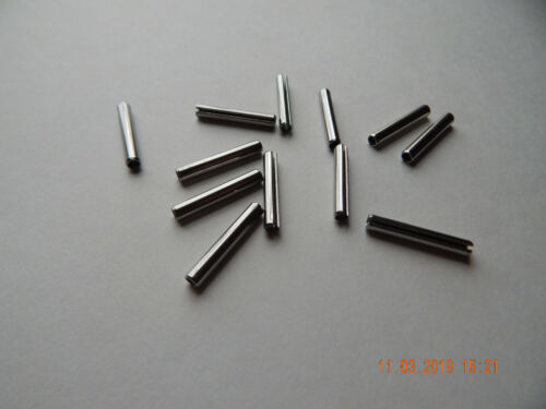 """STAINLESS STEEL ROLL PINS 5/32 x 1"""" 12 PCS. NEW"""