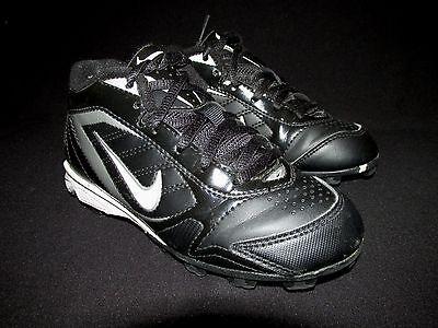 Nike Black Leather Football Soccer Shoes   Kids US 12C EU 29.5 (Leather Kids Football)