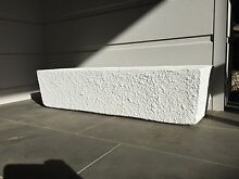 Large long garden concrete pot - painted white Seaforth Manly Area Preview