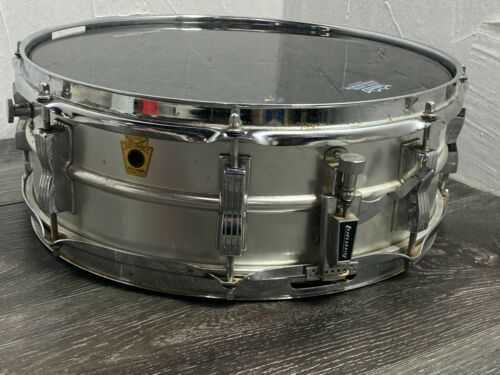 Late 1960s Vintage Ludwig Snare Drum Acrolite Classic 5X14 8 Lug