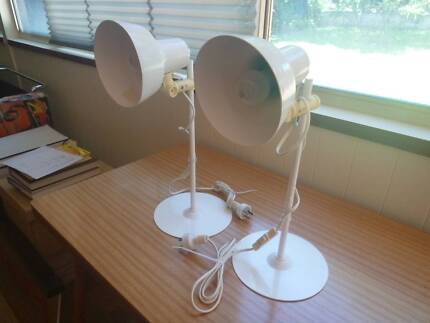 VINTAGE RETRO MID-CENTURY MFI LIGHTING DENMARK DESK LAMPS x 2 Mount Lawley Stirling Area Preview