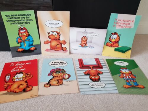 "Jim Davis GARFIELD THE CAT 1978 LOT 8 Vintage Posters 9"" x13-1/2"" ARGUS Great!"