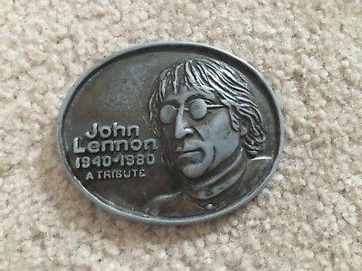 Vintage John Lennon 1940-1980 A Tribute belt buckle