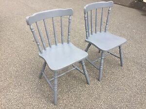 Two grey timber antique dining chairs Belconnen Belconnen Area Preview