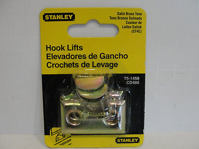 Stanley Hardware 75-1450 / CD486 Hook Lifts Satin Brass Tone -