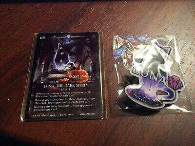 Argent Saga TCG Metal Luna Spirit Halloween Loot Box + Luna Pin