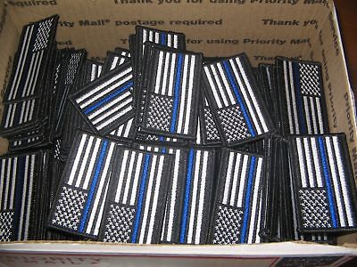LOT of 50 Patriotic American Flag Thin Blue Line Police Patches USA