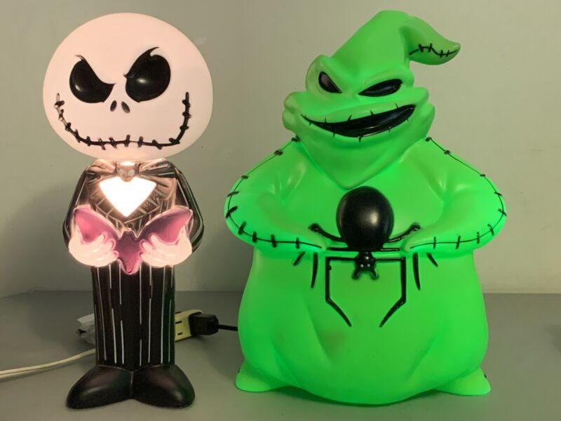 Disney Nightmare Before Christmas Jack Skellington & Oogie Boogie Blow Mold Set