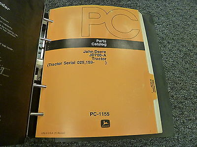 John Deere 700a Industrial Tractor Parts Catalog Manual Book Pc1155
