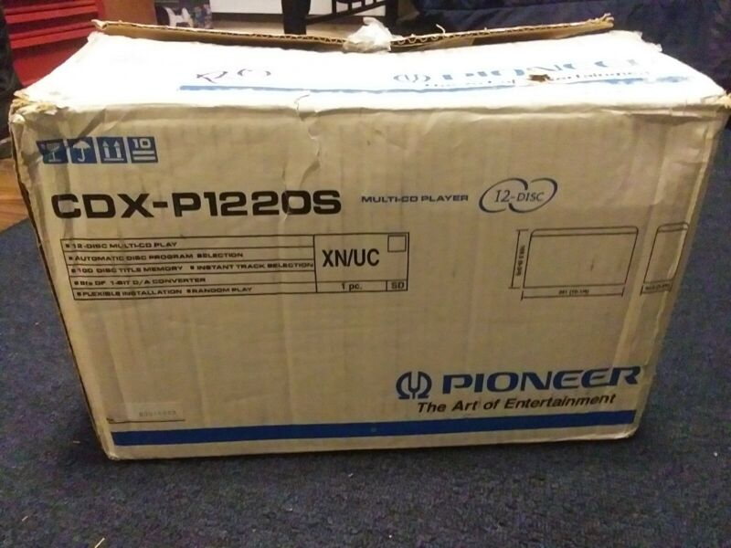 Pioneer CDX-P1220S 12 Disc Multi-CD Changer, New In Box