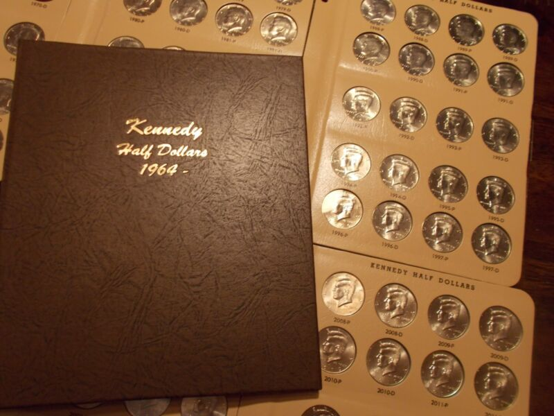 COMPLETE KENNEDY HALF DOLLAR SET, 1964-2019 P&D in beautiful new Dansco album