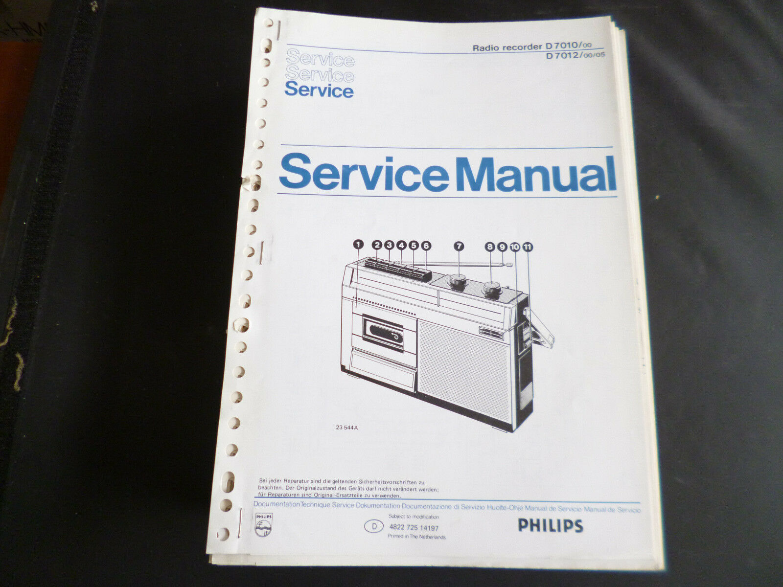 Original Service Manual Philips D 7110 7112