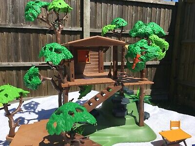 Playmobil Tree House with some animals