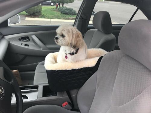 Pet Dog Cat Puppy Booster Car Seat Outdoor Console Secure Safety Travel Seat