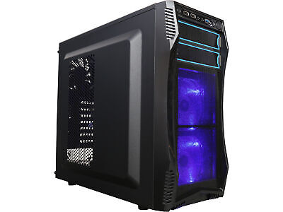 Rosewill Gaming Computer PC Case, ATX Mid Tower w/ Blue LED Fans CHALLENGER S