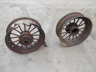 Mccormick Deering Farmall F30 Ih Tractor Original Pair Rear Round Spoke Rims