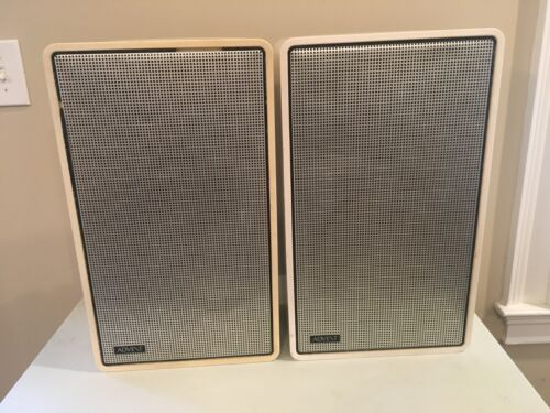 Advent/2 Vintage Classic Speakers, White, Tested Working