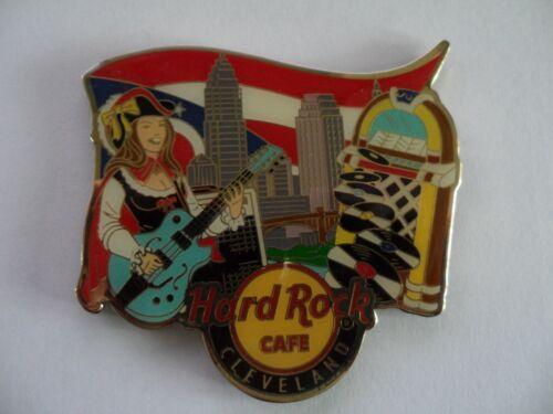 Hard Rock Cafe Cleveland City Logo Icon Alternative Magnet ( no Bottle opener )