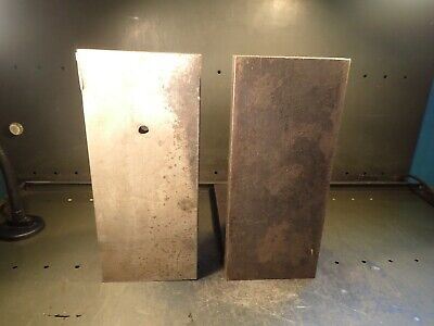 2 Pc Set Right Angle Plates 13 X 13-78 X 6 Wide Mill Milling Set Up Fixtures